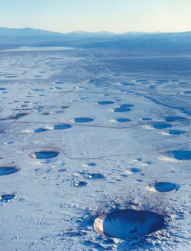 2. Nevada çölünde 22 yıldır süren nükleer testleri...