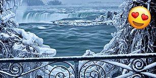 Doğa Yine Büyülüyor! Nefesleri Kesecek Güzellikte Niagara Şelalesi'nin Donmuş Halinden 23 Kare