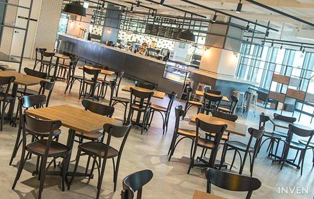 17. Çalışanların dinlenebilmeleri için güzel bir kafeterya da ofisin içinde mevcut.