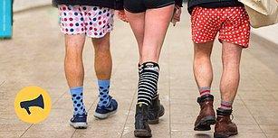 New York'un Geleneksel 'Pantolonsuz Metro Yolculuğu' Bu Yıl da Gerçekleşti