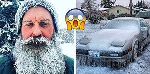 Donan Bıyıklar ve Çatlayan Pencereler: Kuzey Amerika O Kadar Soğuk ki Kıta Buz Tuttu!