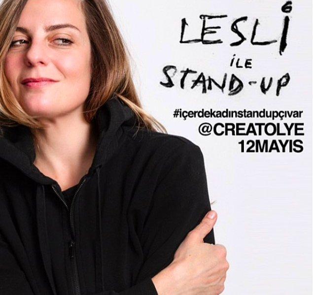 Yeni nesil stand-upçılarımızın başında gelen yetenekli mi yetenekli, zeki mi zeki ve komik mi komik bir isim Lesli Karavil!
