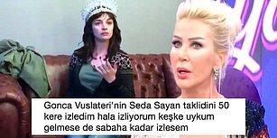 Gülme Krizi Garanti! Başarılı Oyuncu Gonca Vuslateri Muazzam Bir Seda Sayan Taklidi Yaptı, Ortalık Yıkıldı!