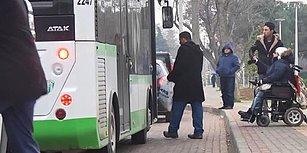 Çağrısı Karşılık Buldu! Tekerlekli Sandalyesi ile Otobüse Binmeye Çalışan Necla D.'yi Almayan Şoföre Ceza