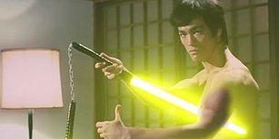 Bruce Lee Mınçıka Yerine Işın Kılıcı ile Dövüşseydi Nasıl Olurdu?