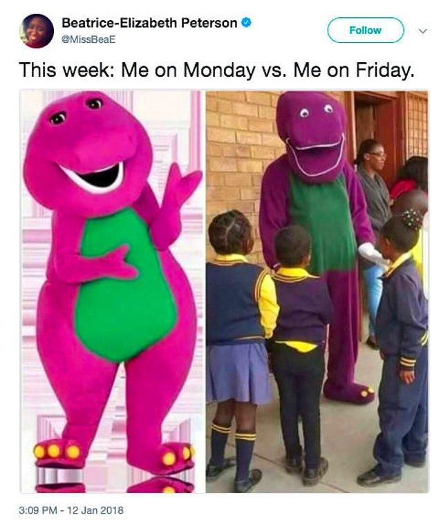 """12. """"Bu hafta: Pazartesi ben vs. Cuma ben"""""""