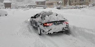 Yoğun Kar Yağışında Kar Küreme Aracı Gibi Giden Audi