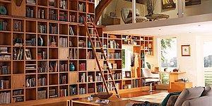 Keşke Bizim Olsa... Evinizin Bir Köşesini Şık Bir Kütüphaneye Dönüştürebilmeniz İçin Birbirinden Güzel 15 Örnek