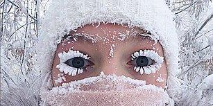 Sibirya'da -67 Dereceye Ulaşan Hava Durumunun Ortaya Çıkardığı Birbirinden Enteresan Görüntüler