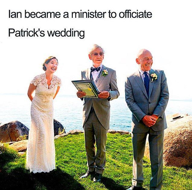4. 77 yaşındaki Sir Patrick Stewart ve 78 yaşındaki Sir Ian McKellen'ın bromance'i o kadar güçlü ki hayat onlara güzel!