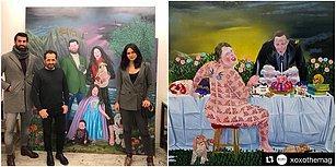 Volkan Demirel Ailesini Resmettiği Tabloyla Tanınan İmam Hatipli Ressam Ali Elmacı'nın Birbirinden Özgün 21 Tablosu