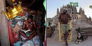 22 Yıl Boyunca Kumdan Bir Kalede Yaşayıp Kira Derdine Kendince Çözüm Bulan Adam