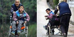 Her Gün 24 Kilometre Yürüyerek Engelli Torununu Okula Götüren 76 Yaşındaki Kadın