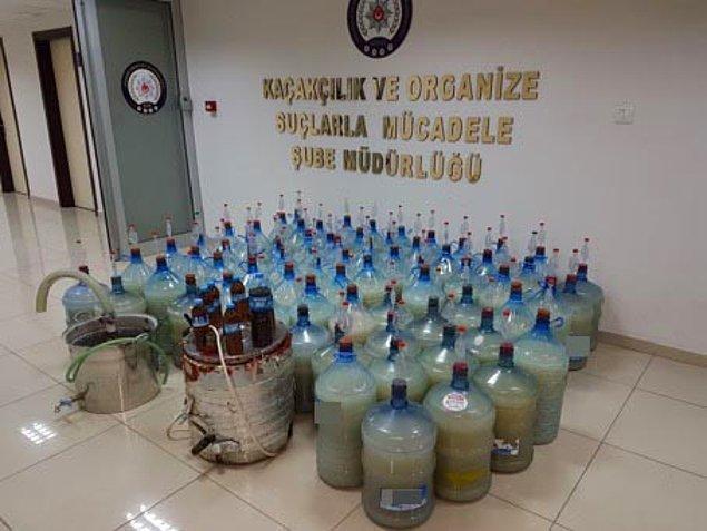 Çorum Kaçakçılık ve Organize Suçlarla Mücadele Şube Müdürlüğü (KOM) ekiplerinin düzenlediği operasyondan görüntüler patlaşıldı.