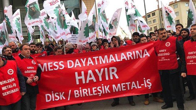 """Birleşik Metal-İş """"Yasağı tanımıyoruz, 2 Şubat'ta grevdeyiz"""" dedi."""