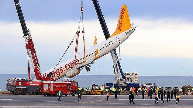Uçağın yaptığı kaza sonrası hazırlanan raporda da tekrar uçamayacağı belirtilmişti.