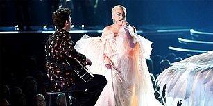 2018 Grammy Ödülleri Gecesinde Sahne Alan Lady Gaga'dan Muhteşem Performans