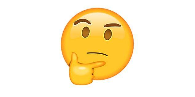 Düşünen, sorgulayan emoji!