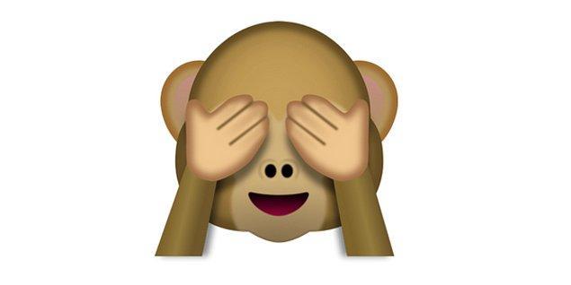 Duydukları karşısında utangaç, sevimli emoji!