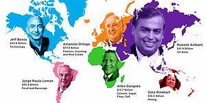 Milyonların Dünyaya Dağılımı! İşte Karşınızda Kıta Kıta Ülke Ülke Dünyanın En Zengin İnsanları