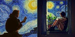 """Van Gogh'un """"Yıldızlı Gece""""si Film Kareleriyle Buluştu, Ortaya Bu 25 Enfes Çalışma Çıktı!"""