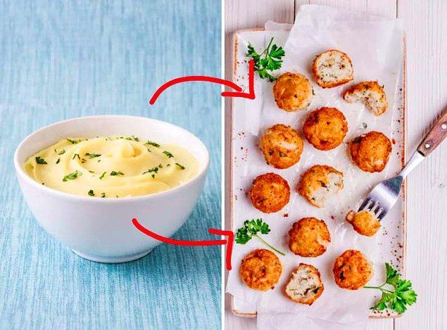 13. Artan yemekleri farklı ve yeni yemeklere dönüştürün.