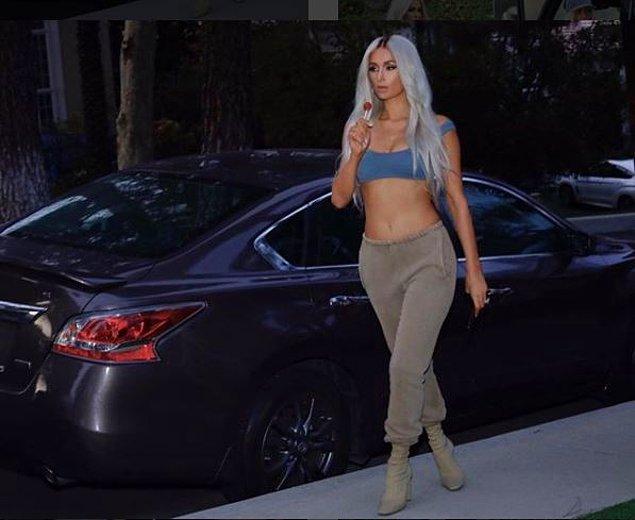 Onun Kim Kardashian kılığına girmesi sosyal medyada da büyük olay yarattı.