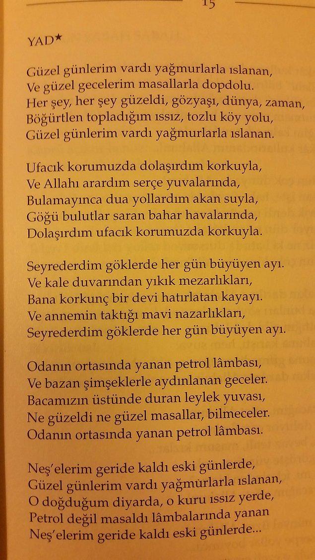 BONUS - Turgut Uyar'ın tüm şiirlerinin derlendiği Büyük Saat kitabının ilk şiiri - Yad
