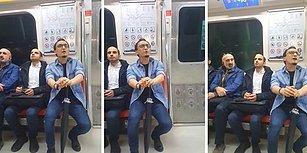 Metroda Muhteşem Bir Performans: 'Drama Köprüsü' Türküsü