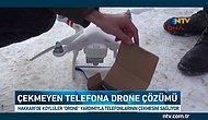Cep Telefonu Çekmeyen Köyde İlginç Çözüm: Drone Sayesinde Telefonla Konuşuyorlar!