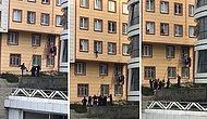 Pencereden Sarkan Çocuğu Fark Ederek Yere Düşmeden Yakalayan Güzel İnsanlar