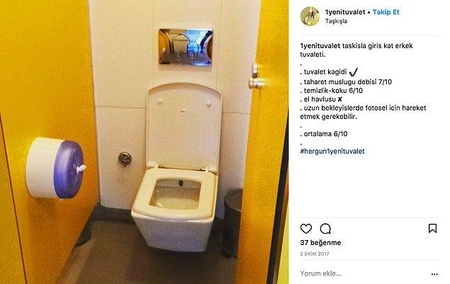 Hesabın sahibi genellikle İstanbul'un popüler mekanlarını, daha doğrusu mekanların tuvaletlerini inceliyor. Örneğin bu fotoğraf.
