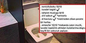 Instagram'ın En İlginç Hesaplarından Tuvaletlere Not Veren 'Her Gün Bir Yeni Tuvalet'