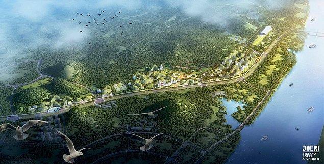 Şehirde iş yerleri, oteller, hastaneler ve okullar yer alacak ve her yer yeşil alanlarla kaplanacak.