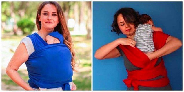 14. Bebeğinizin anne karnında olduğu kadar rahat edebilmesi için tasarlanan wrap sling'le dışarı çıkmak çok zevkli olacak!