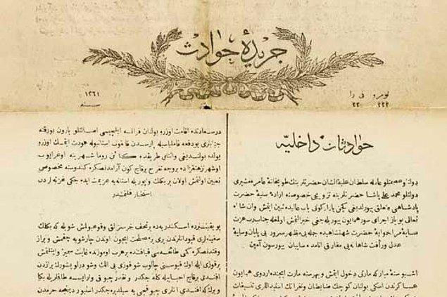 Ceride-i Havadis kendinden önceki resmi gazete Takvim-i Vekayi'yi örnek aldığı ve devlet desteğiyle yürüdüğü için yarı-resmi sıfatıyla da anılmaktadır.