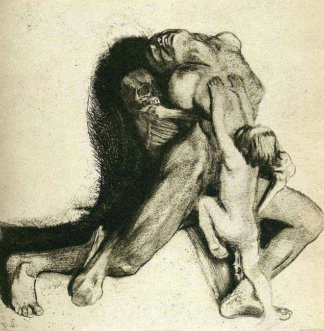 Death and Woman (1910)/ Ölüm ve Kadın