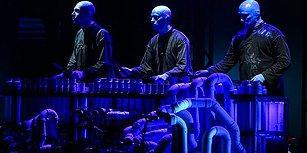 Zorlu PSM'de Sahne Alan 'Blue Man'den Tarkan Sürprizi