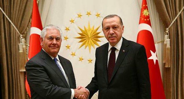 """""""Türkiye'nin öncelikleri ve beklentileri Tillerson'a iletildi"""""""