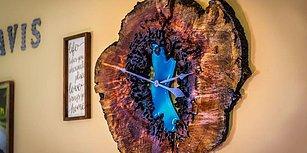İzlemesi Aşırı Keyifli Şeylerde Bugün: Ağaç Parçasından Duvar Saati Yapımı