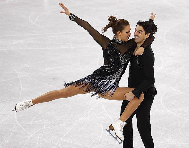 Artistik buz pateninde Türk çift 19'uncu oldu.