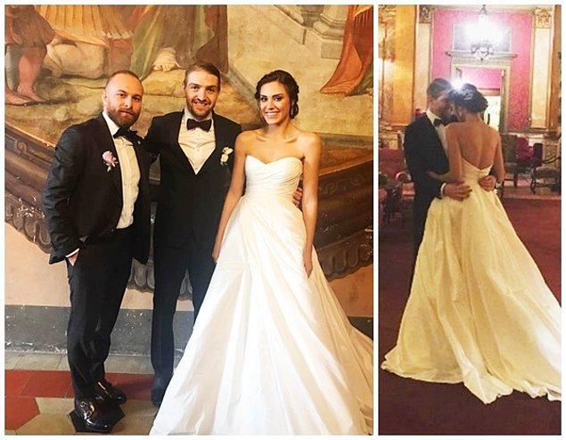 Şükran Ovalı da İtalya'da futbolcu Caner Erkin ile sade bir törenle evlenmişti.