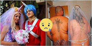Nikahına Beni Çağırma Sevgilim! Beyin Yakan Kostümleriyle Sizi Anında Evlilikten Soğutacak 20 Gelin ve Damat