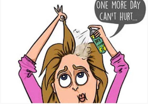 Saçlarını yıkamak yerine üst üste kuru şampuan kullanmak