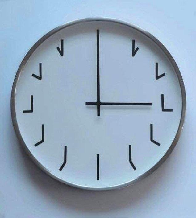 10. Minimalist bir saat tasarımı. ☺️