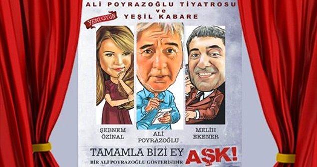 3) Tercihini tiyatrodan yana kullanmak isteyenler için Ali Poyrazoğlu'nun 'Tamamla Bizi Ey Aşk' adlı oyunu 23 Şubat'ta 4 Mevsim Tiyatro Salonu'nda.
