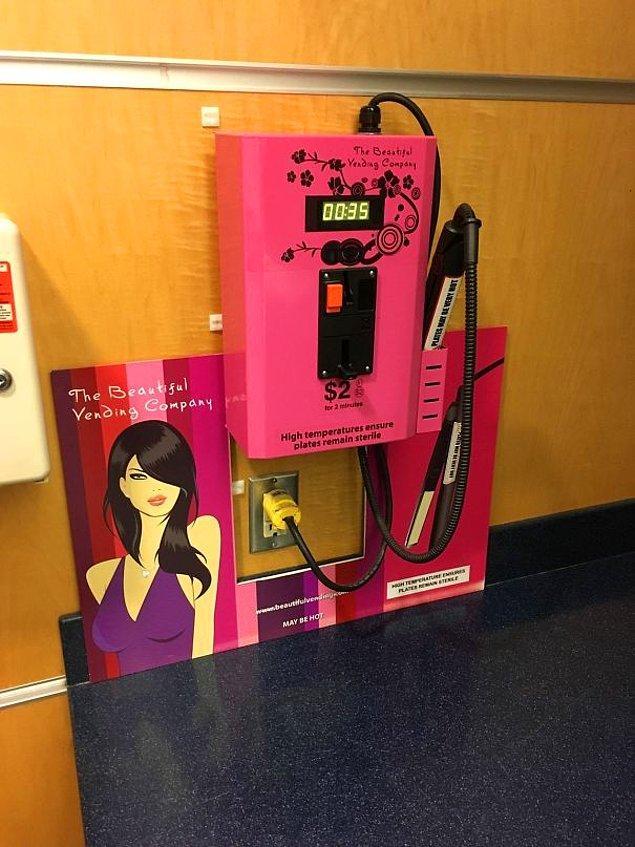 4. Solda; ücretsiz ped ve tampon makinesi, sağ taraftaki de saç düzleştirme standı 👇