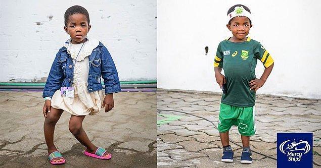 Bu da 5 yaşındaki Bernadette. Bacaklarındaki eğrilik ve dayanılmaz acılar yüzünden okula gitme hayallerini ertelemiş.