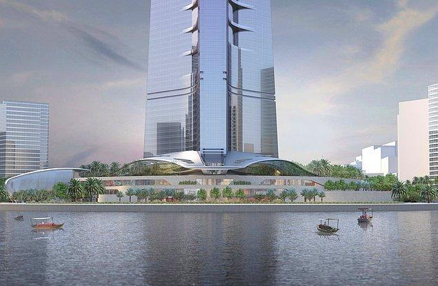 Gökdelenin içinde yemek yerleri, otel odaları, alışveriş merkezi ve özel daireler de bulunuyor olacak.
