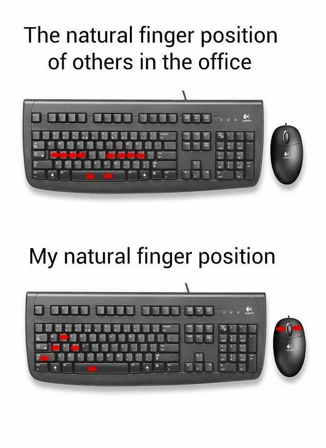 6. Doğru klavye kullanımı budur.